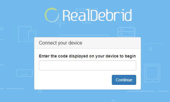Connect your device real debrid - Bee TV App